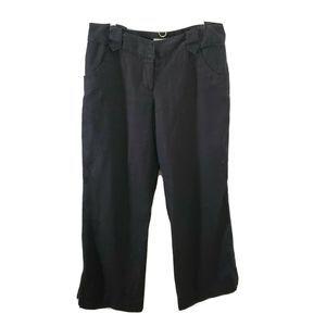Michael Kors Black Linen Pants Womens Sz 10 Petite